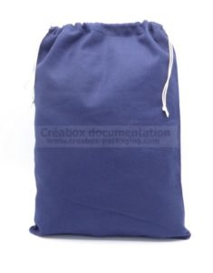 blue cotton bag for chips or game pieces 29x40 cm