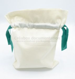 open bag with collar and double ribbon - 24x31 cm