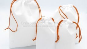 collection of non-woven fabric pouches, 4 sizes, for sporting events
