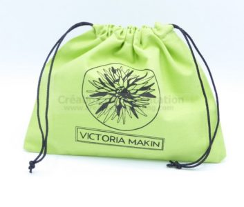 closed bag for fashion accessories - 22x18 cm custom color