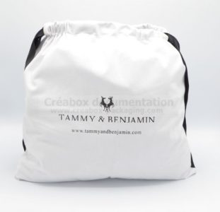Bamatex microfibre bag for leather goods - 42x40 cm