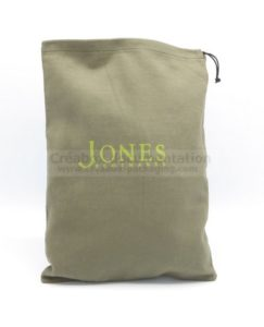 brushed cotton shoe bag - 25x36 cm