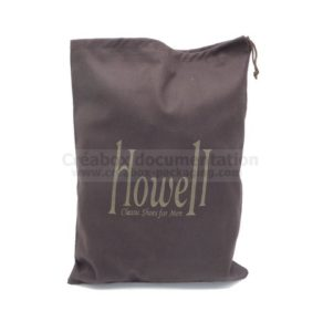 brushed cotton shoe bag - 27x36 cm