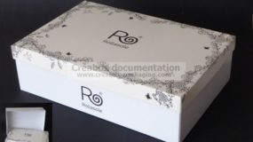 ready-to-assemble cardboard box for shoes
